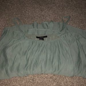 Green Tank-top Blouse